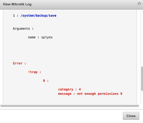 Errors in API between Splynx and Mikrotik - MikroTik
